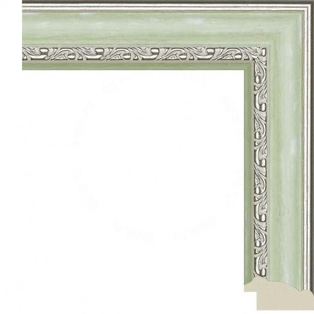 Паула (зеленая) Рамка для картины без подрамника N241