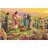 Чудеса Иисуса Христа. Пять хлебов Раскраска картина по номерам на холсте