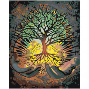 Древо жизни 80х100 Раскраска картина по номерам на холсте