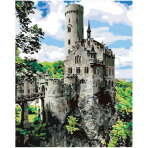 Рыцарский замок 100х125 Раскраска картина по номерам на холсте