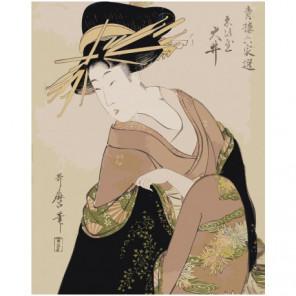 Прекраснейшие женщины Китагава Утамаро 100х125 Раскраска картина по номерам на холсте