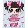 Малышка в розовом платьице Алмазная мозаика