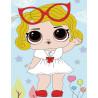 Малышка в очках Алмазная мозаика