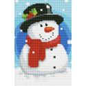 Снеговик Алмазная мозаика на подрамнике LC023
