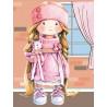 Куколка в розовом Алмазная мозаика на подрамнике