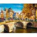 Канал в Амстрдаме Алмазная мозаика на подрамнике LG195