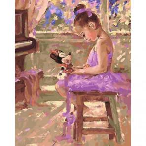 Прекрасная балерина Раскраска картина по номерам на холсте