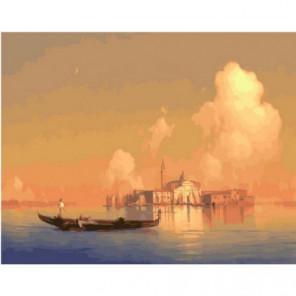 Вид Венеции (Айвазовский) Раскраска картина по номерам на холсте