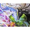 Акварельные лошади Раскраска картина по номерам на холсте