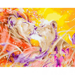Душа львов Раскраска картина по номерам на холсте
