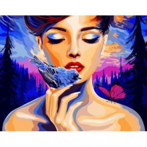 Любовь к природе Раскраска картина по номерам на холсте