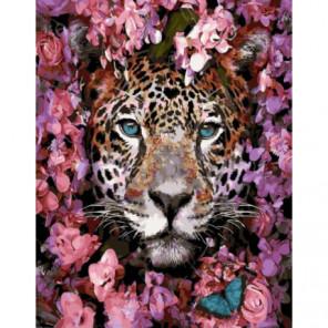 Весенний леопард Раскраска картина по номерам на холсте