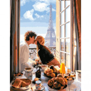 Сладкий завтрак Раскраска картина по номерам на холсте