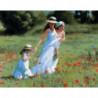 Прогулка с детьми Раскраска картина по номерам на холсте