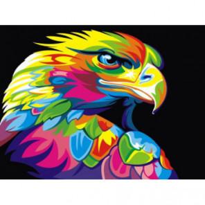 Радужный орел Раскраска картина по номерам на холсте