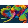 Радужный слон Раскраска картина по номерам на холсте