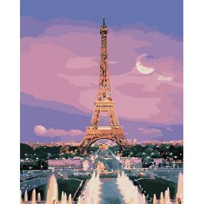 Вид на Эйфелеву башню Раскраска картина по номерам на холсте MG3205