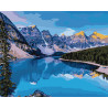 Горная река Раскраска картина по номерам на холсте