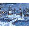 Зимняя деревня Раскраска картина по номерам на холсте