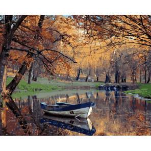 Осенний парк Раскраска картина по номерам на холсте MG20184