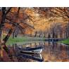 Осенний парк Раскраска картина по номерам на холсте