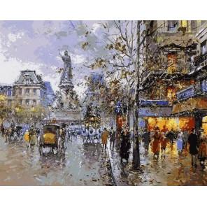 Прогулочный бульвар Раскраска картина по номерам на холсте MG6238