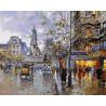 Прогулочный бульвар Раскраска картина по номерам на холсте