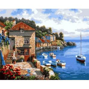 Средиземноморье Раскраска картина по номерам на холсте MG6165
