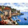 Средиземноморье Раскраска картина по номерам на холсте