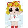 Малышка в очках Раскраска картина по номерам на холсте
