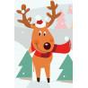 Олень рождественский Раскраска картина по номерам на холсте