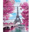Весенняя Франция Картина по номерам на дереве PKT24027