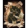 Денежный кот Алмазная картина-раскраска по номерам на подрамнике