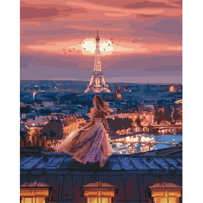 Крыши Монмартра Алмазная картина-раскраска по номерам на подрамнике GZS1064