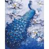 Синий павлин Алмазная картина-раскраска по номерам на подрамнике