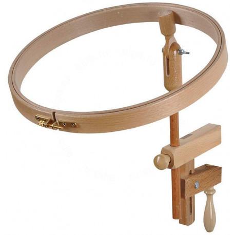 Пяльцы круглые с замком и креплением для стола (высота обода 24 мм) Klass&Gessmann