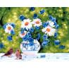 Букет в саду Раскраска картина по номерам на холсте