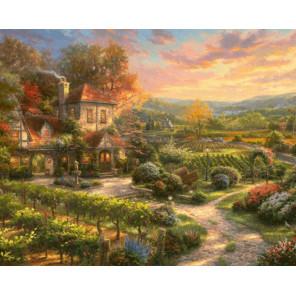 Сказочный пейзаж Раскраска картина по номерам на холсте GX31562