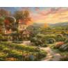 Сказочный пейзаж Раскраска картина по номерам на холсте