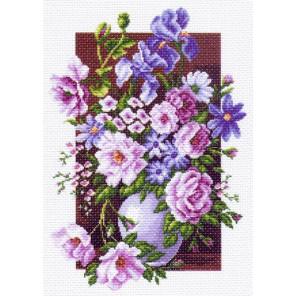 Букет цветов Канва с рисунком для вышивки Матренин посад