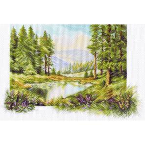 Пейзаж с соснами Канва с рисунком для вышивки Матренин посад