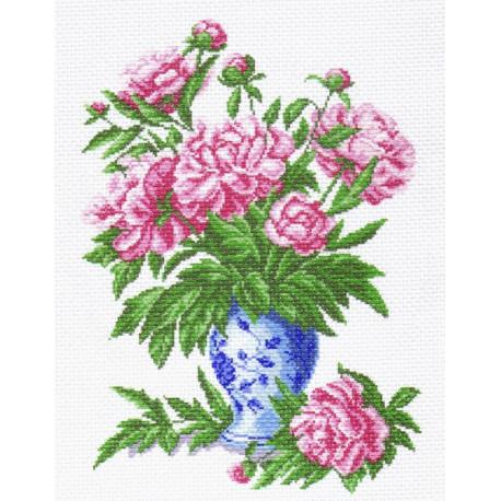 Пионы Канва с рисунком для вышивки Матренин посад