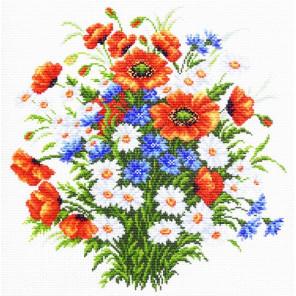 Полевой цвет Канва с рисунком для вышивки Матренин посад