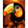 Тукан 100х125 Раскраска картина по номерам на холсте