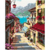 Итальянская улочка Раскраска картина по номерам на холсте