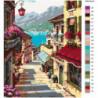 Итальянская улочка 100х125 Раскраска картина по номерам на холсте