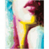 Абстрактная девушка 100х125 Раскраска картина по номерам на холсте