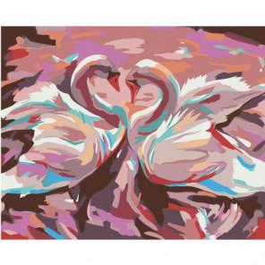 Два лебедя 100х125 Раскраска картина по номерам на холсте