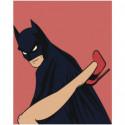 Бэтмен и женщина Раскраска картина по номерам на холсте