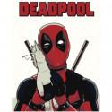 Дэдпул Deadpool Раскраска картина по номерам на холсте